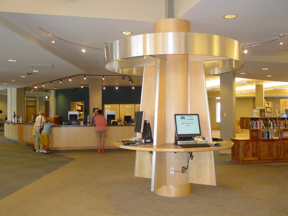 Custom Kiosk at the Transylvania County Library