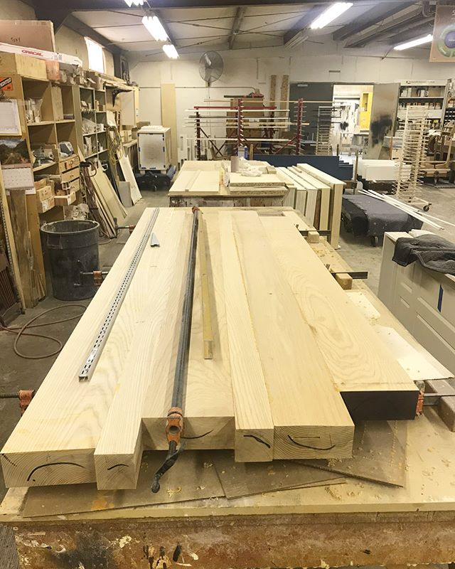 #inprogress An Ash conference table for @forestkitchendesignstudio! • • • #customwoodwork #customtable #forestmillwork #asheville #828isgreat #greenville #yeahthatgreenville