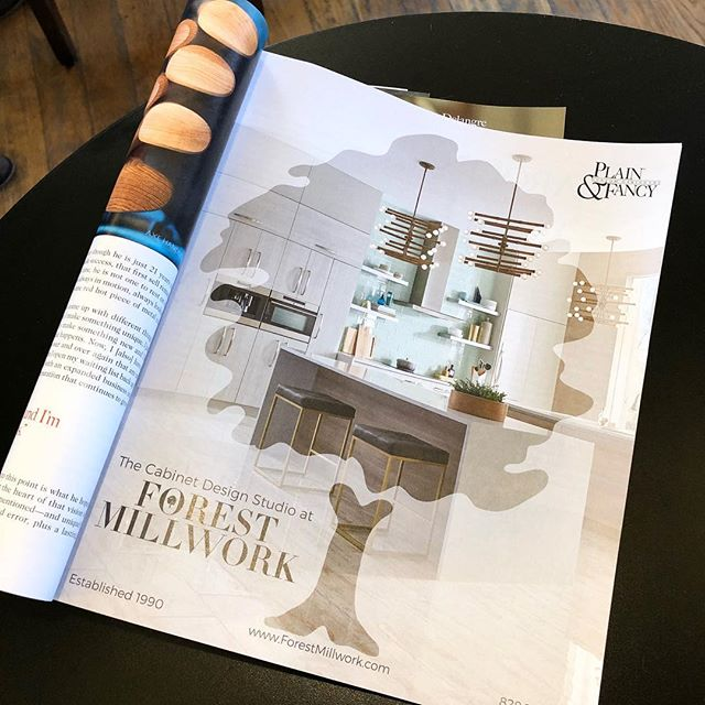 As seen in @capitalatplay. Such a great publication! • • • #828isgreat #advertising #kitchendesign #plainandfancy  #capitalatplay #forestmillwork