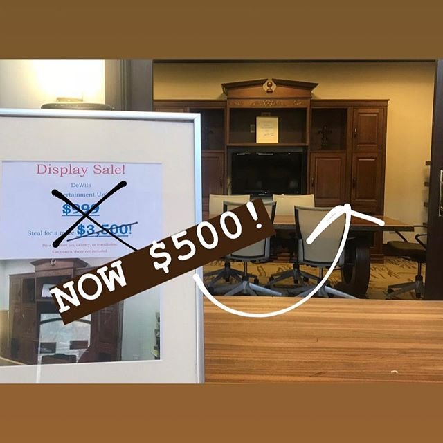 Happy Friday y'all! • This #entertainment unit needs a new home! We've DRASTICALLY lowered the price from $3,500➡️$500!  Beautifully crafted, will last a lifetime.  Call us at 828.251.5264 for more info.  #supersale #cabinetry #asheville #upgrade