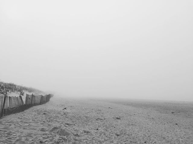 Just us and a little bit of fog.  #foggynewport #epic #beach