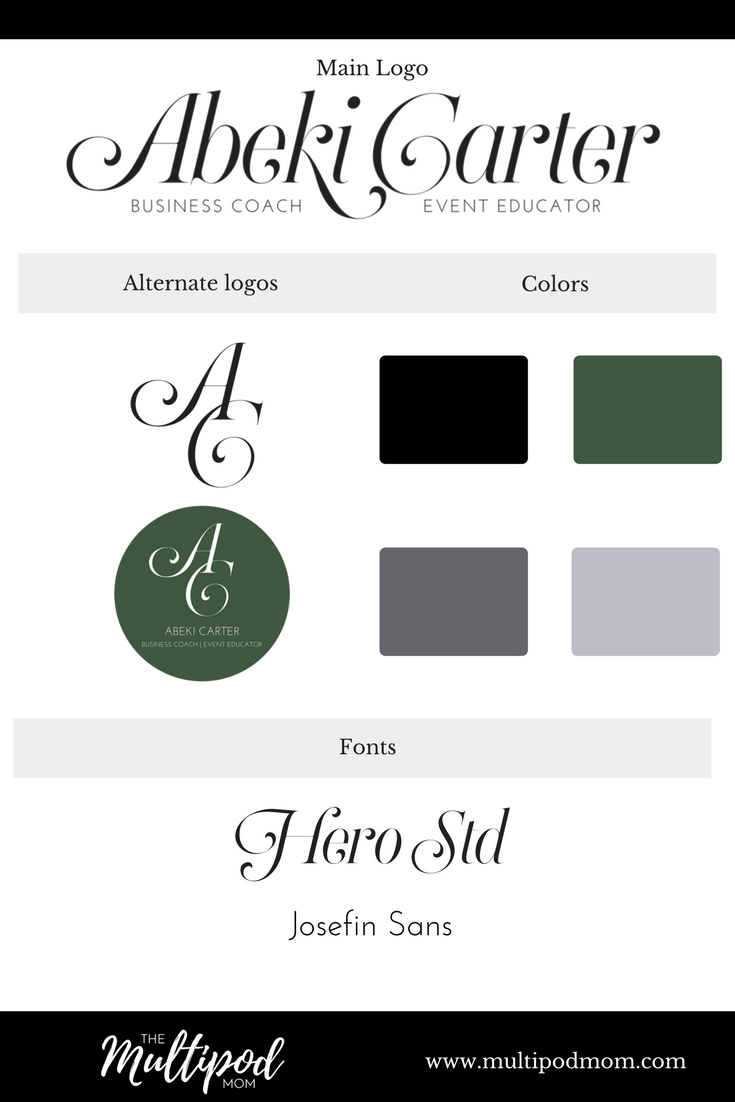 Logo creation and branding style board