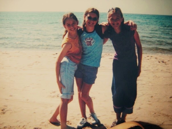 From left to right: Emily B, Tessa, and myself  rocking some amazing flowy denim. Who knew something like that existed...