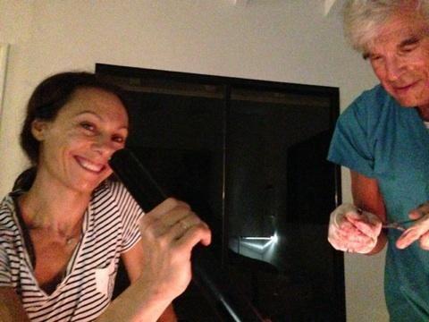 Assisting Dr. Crane at a homebirth