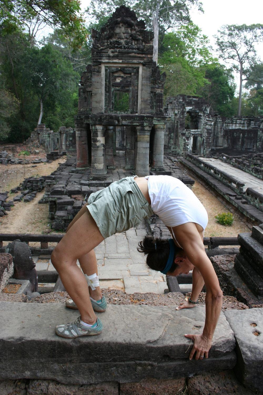 Yoga at Angkor Wat