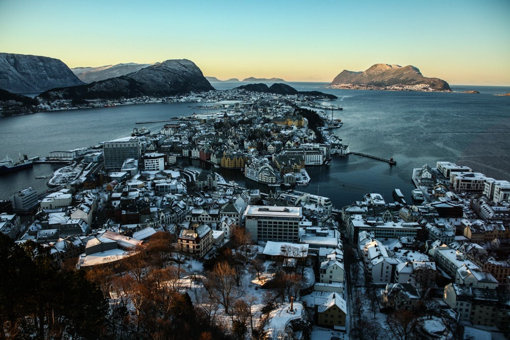 Aksla lookout in Alesund, Norway