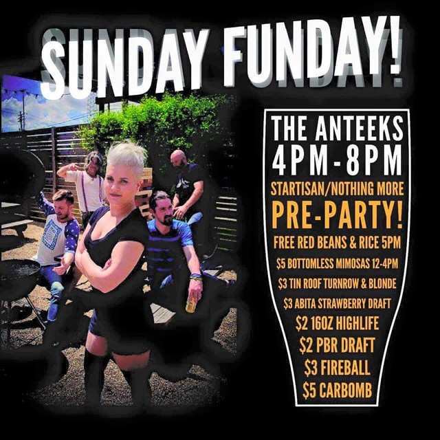 Free food and great drink specials! Today! #sundayfunday #brickyardsouth #theanteeks
