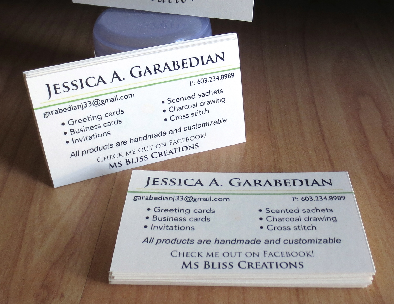 Business Cards — Ms Bliss Creations