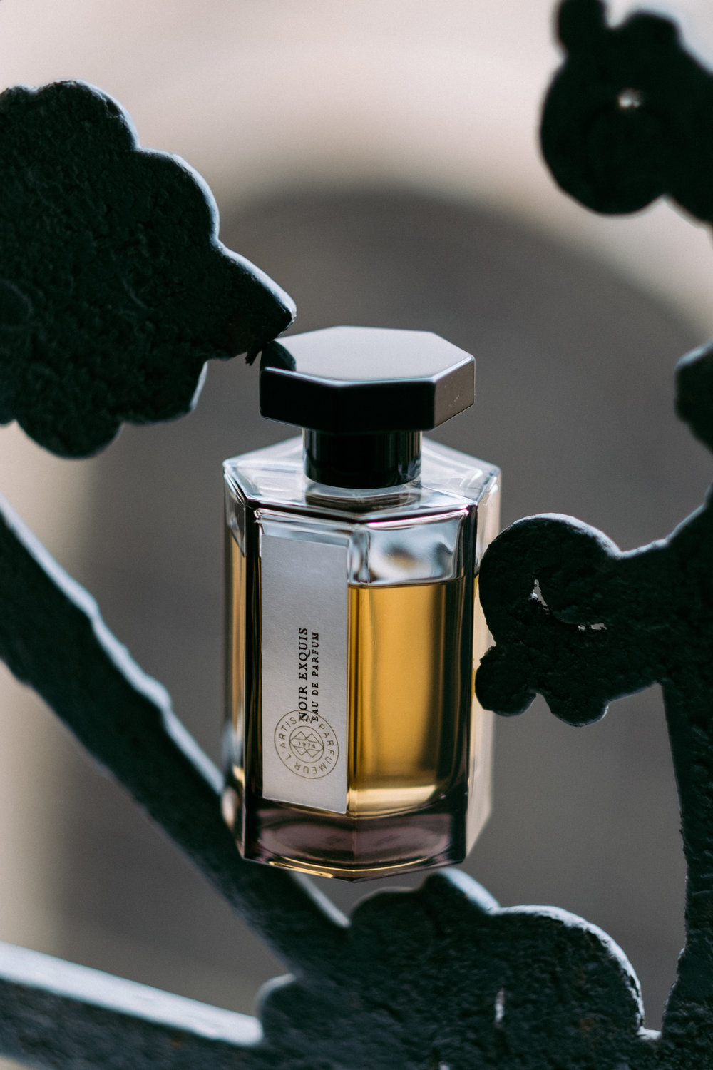 Take a look at  L'Artisan Parfumeur  which enchants me with its elegant packaging and amazing combination of notes. I got stroked by  Noir Exquis : its deep base embodies the embrace of coffee and dried fruit. This scent will please those who prefer the unusual sweet fragrances.