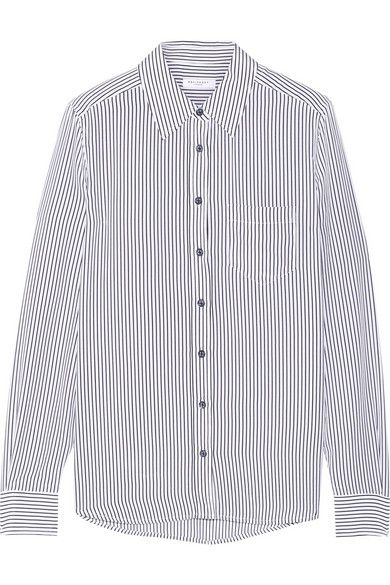 Equipment Brett Striped Silk Crepe Shirt
