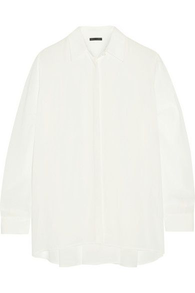 THE ROW Carlton crepe shirt