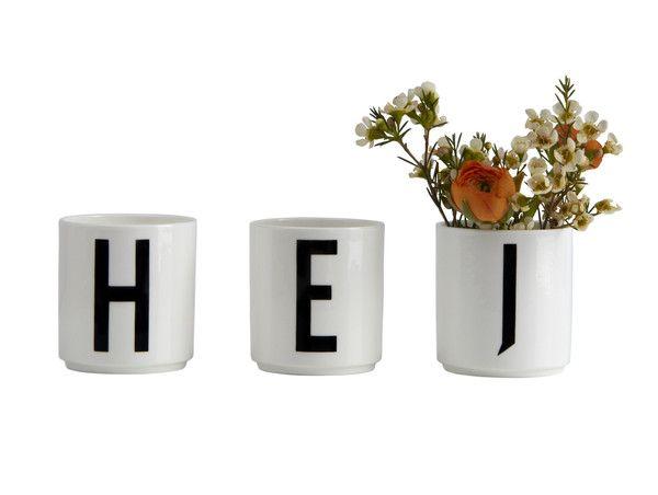 Arne Jacobsen Letter Mugs