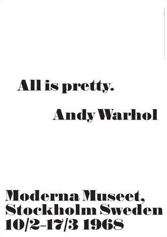 Moderna Museet Andy Warhol Poster