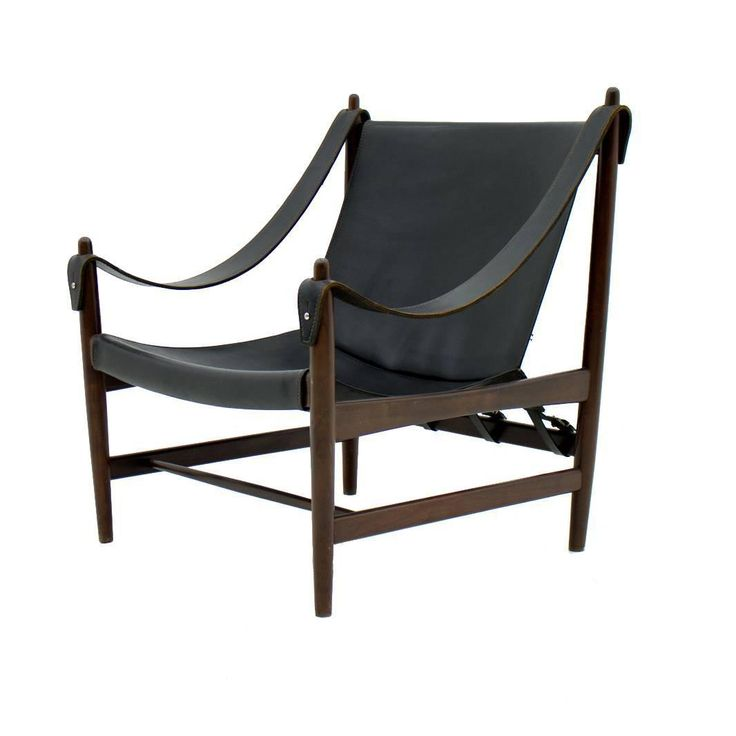Scandinavian Lounge Chair, Rosewood and Leather, 1960s
