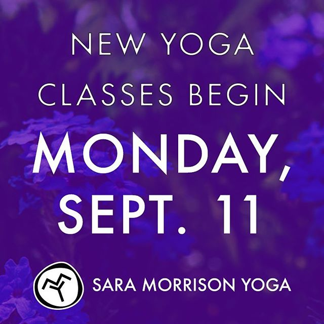 I'm starting up classes next week! Visit https://www.saramorrisonyoga.com/teaching-schedule/ for full class details. Stay tuned, because there will be even more new classes added in the near future. 😁 #saramorrisonyoga