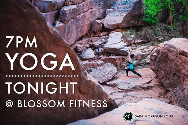 See you there! Additional class details can be found at https://www.saramorrisonyoga.com/teaching-schedule/ and https://www.facebook.com/blossomfitnesswf/. 😁 #saramorrisonyoga
