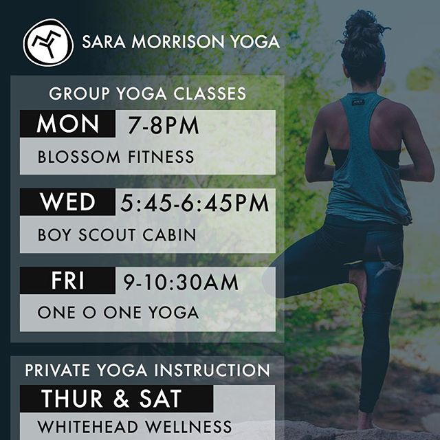 Kick off the first full week of fall with some yoga. 🍂 See you in class! #saramorrisonyoga