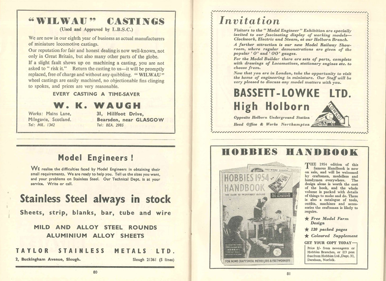 Model Engineer Exhibition 1953 Bassett-Lowke & Hobbies Handbook spread 72  dpi cropped copy.jpg