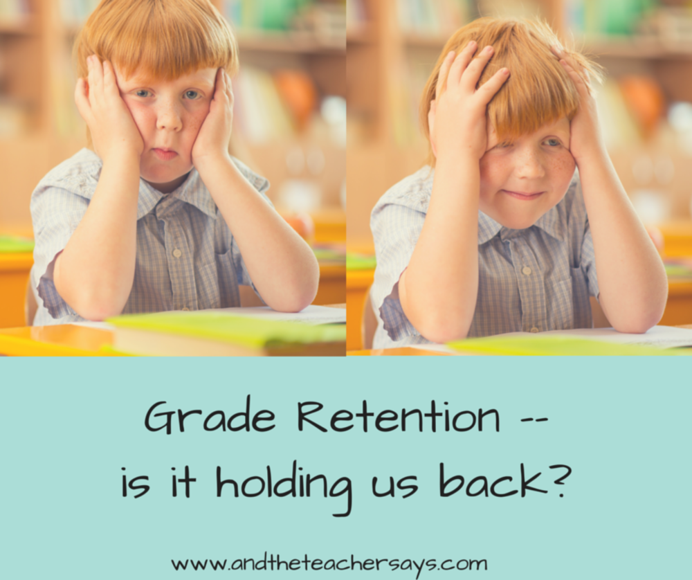 Should your child repeat a grade? Holding a child back is a big decision. This article on grade retention takes a look at the research on grade retention. Blogging about education for parents at www.andtheteachersays.com