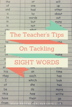 Does your child need to work on sight words? The teacher's tips for HOW to master those important words.