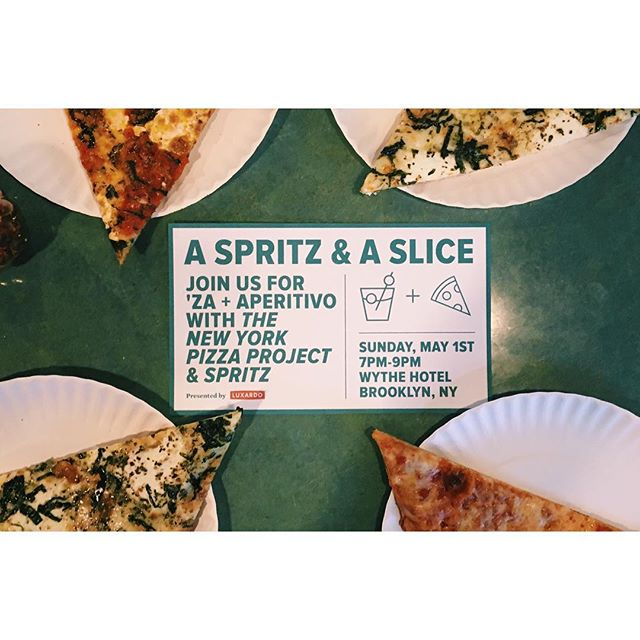 "Join us for slices and cocktails at the after party of this year's @foodbookfair at the @wythehotel on Sun from 7-9pm! Your ticket comes with a copy of our book + the ""Spritz"" cocktail book and delicious slices from @bestpizza33 and Spritz cocktails. What could be better?! Link in bio!"