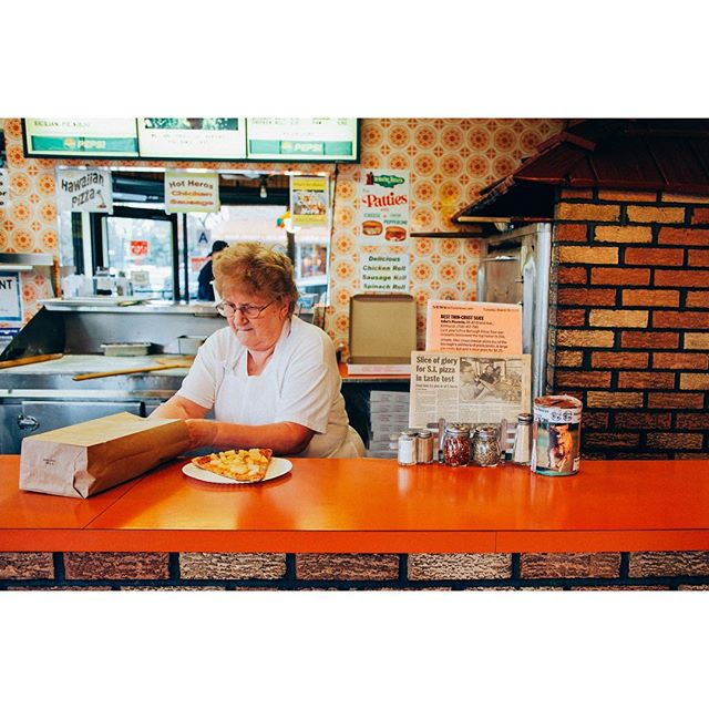 TODAY ONLY! 2 for 1 copies of The New York Pizza Project. Give the gift of 🍕. Link in bio. • • • Pictured: Rose, Maker, John's Pizzeria, Elmhurst