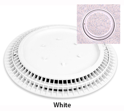Round Pebble Top Drain Covers Color Match Pool Fittings