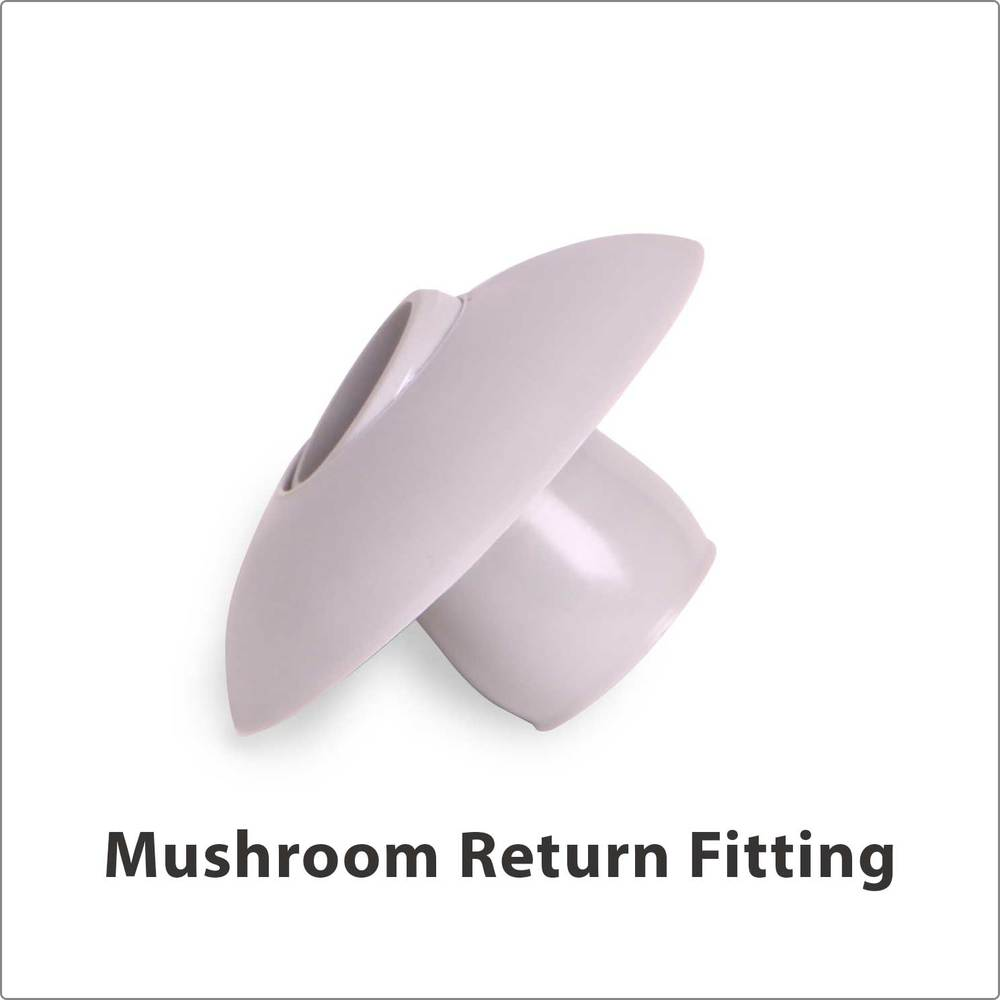 Mushroom Return Fitting