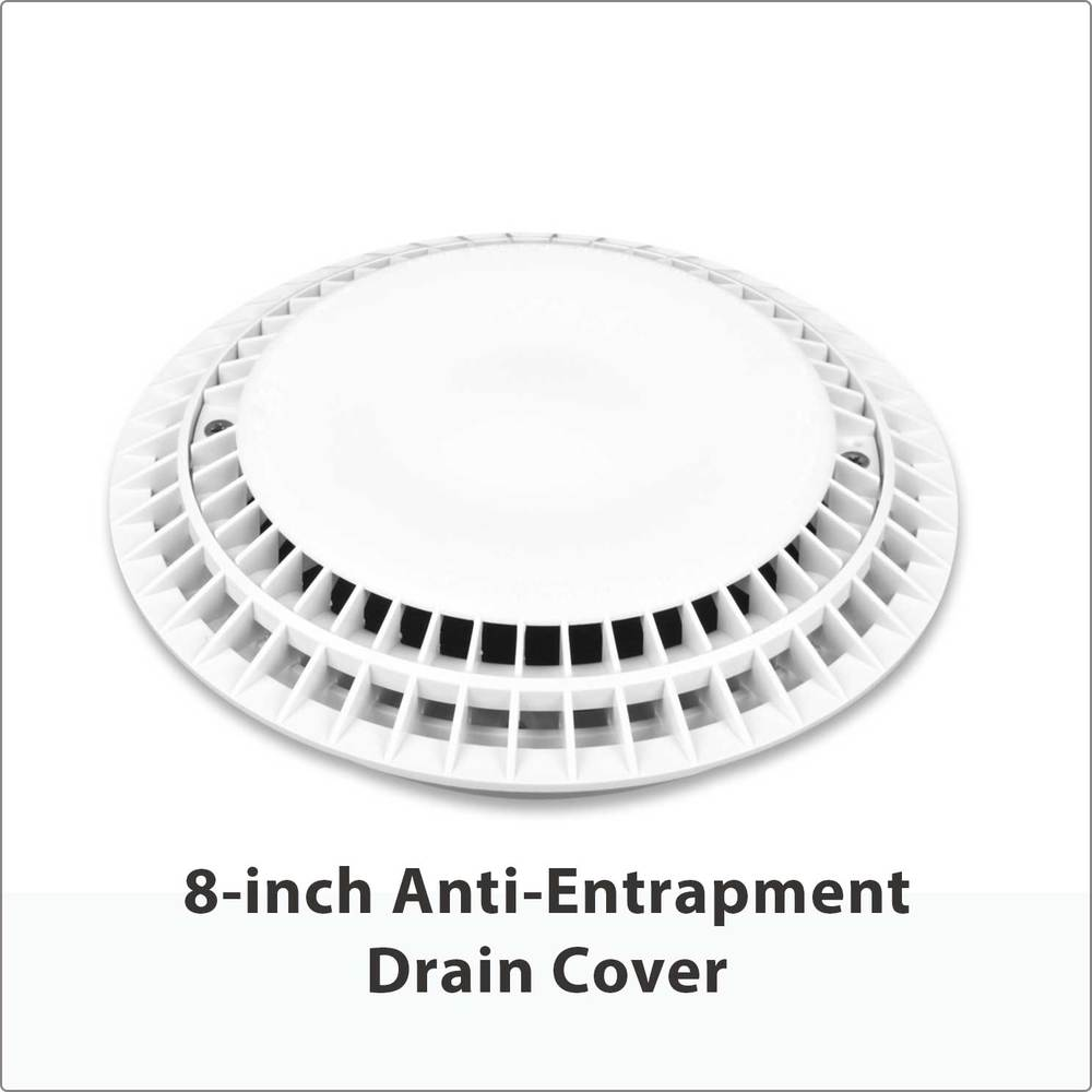 "8"" Anti-Entrapment Drain Cover"