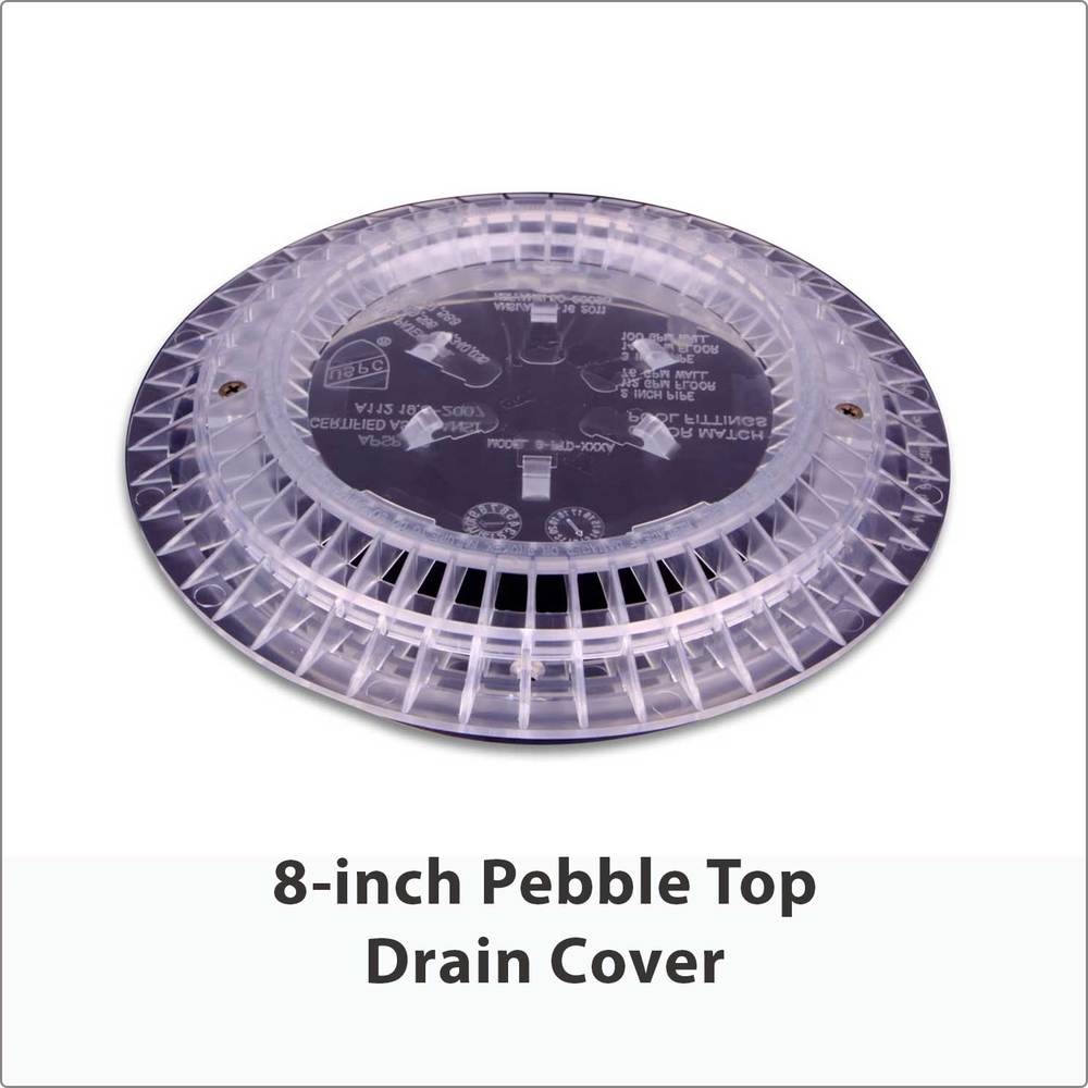 8-inch Pebble Top Drain Cover Clear