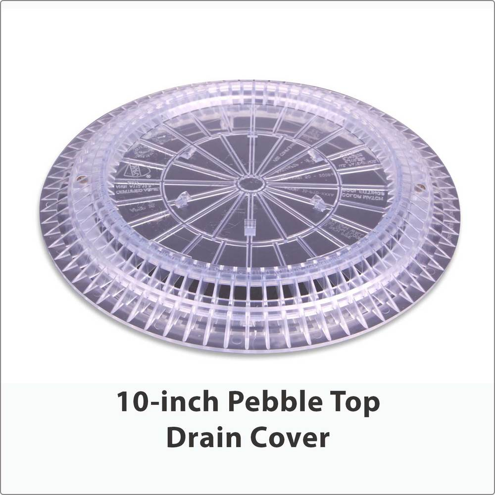 10-inch Pebble Top Drain Cover Clear