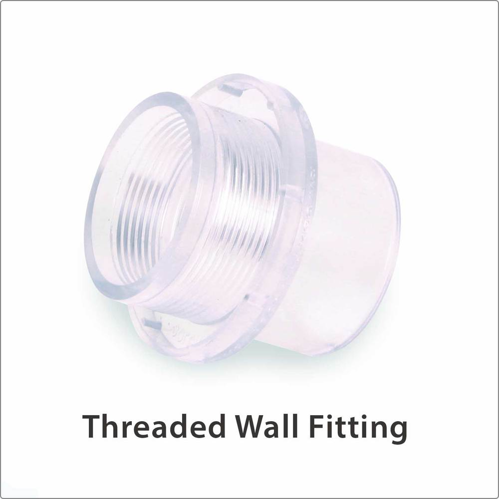 Threaded Wall Fitting Clear