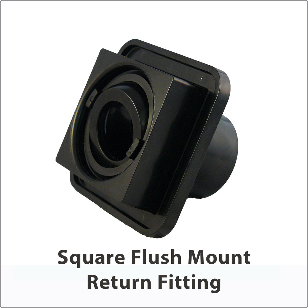 Square Flush Mount Return Fitting