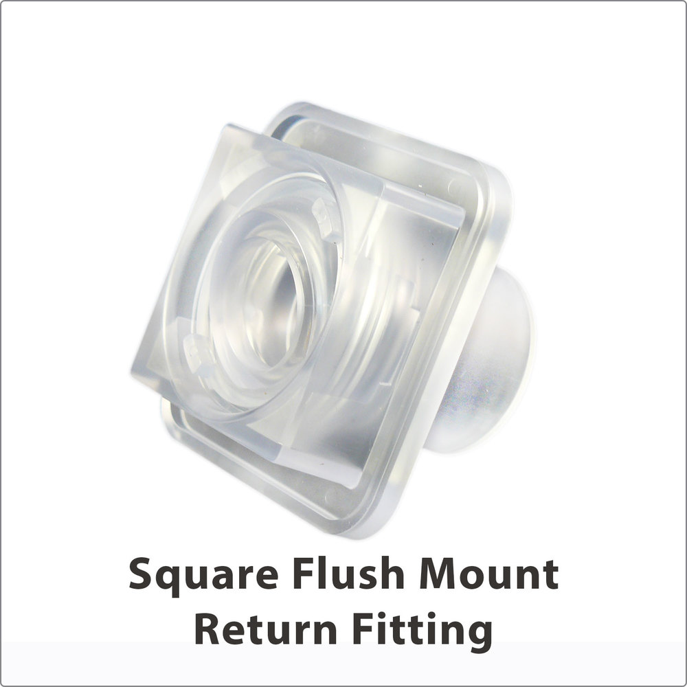 Square Flush Mount Clear