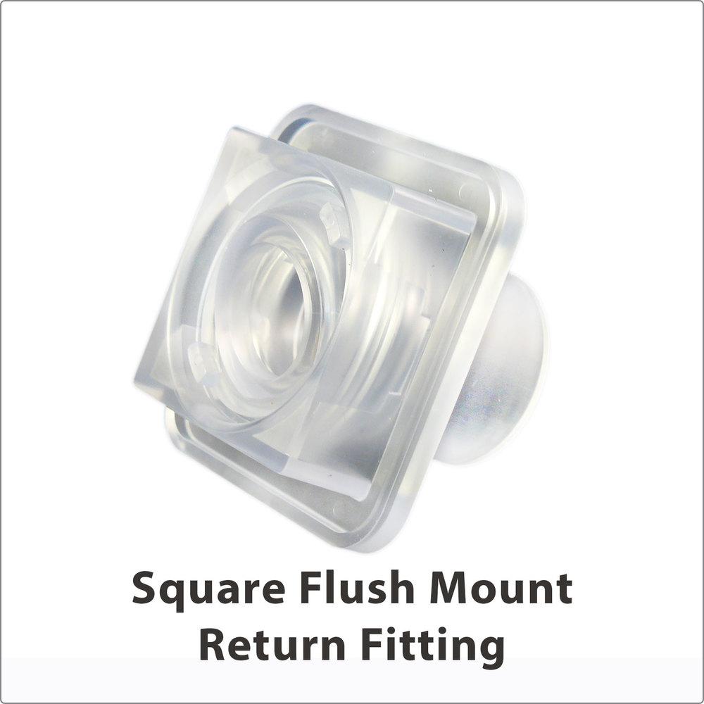 Square Flush Mount Clear