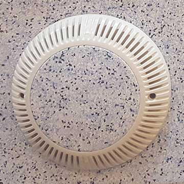 vinyl top drain cover white vinyl