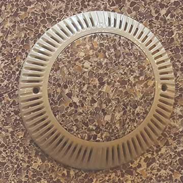 vinyl top drain cover beige vinyl