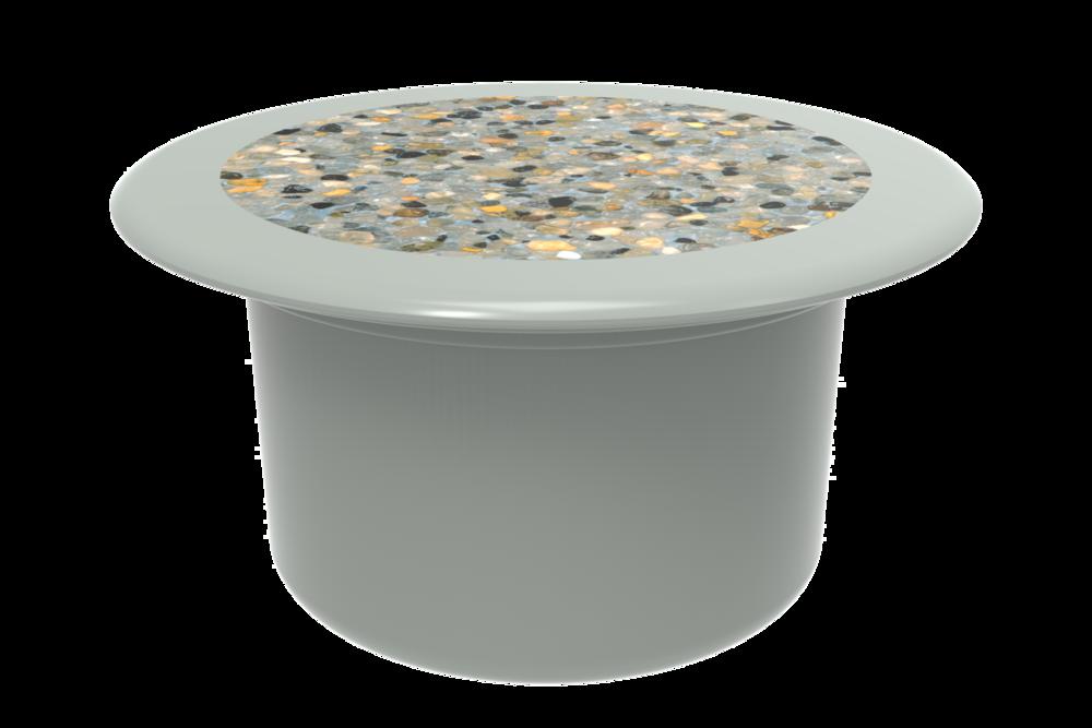 Retrofit Pebble Top Cap - shown filled