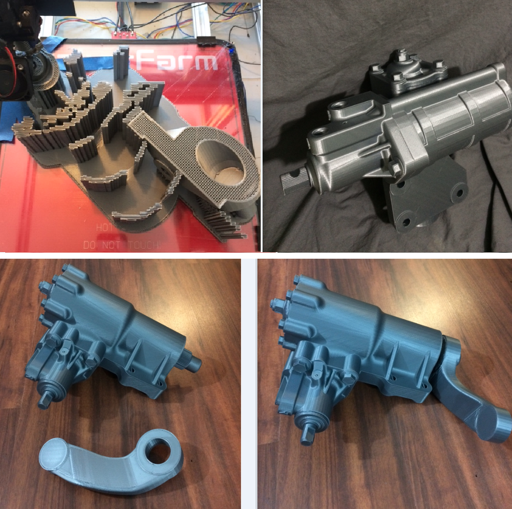 Large Automotive Prototype Multi-Part-Assembly printed on our FFF Pegasus Printers. Printed at 250micron Resolution in Silver PLA