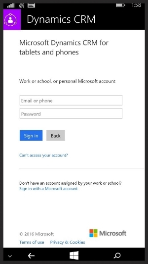 Example of Microsoft Office 365 branded password page.