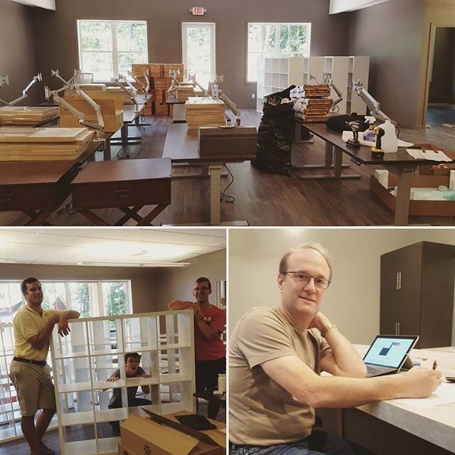 The Baxter office move is underway! Thankfully we only have to carry everything across the parking lot. #movingonup
