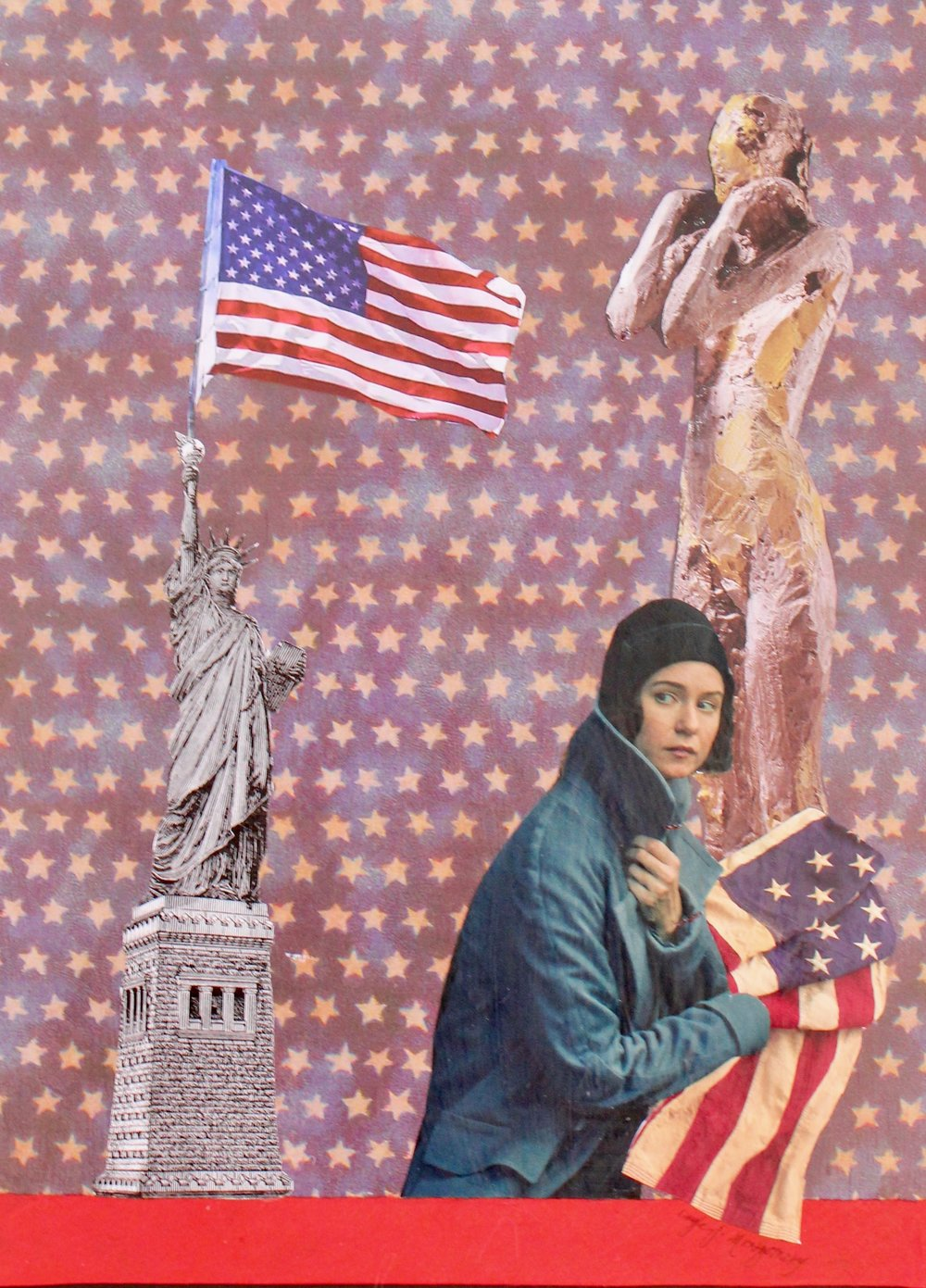 """Liberty Lost""  Each day I am appalled and saddened by Trump, his administration and the Congressmen that support him.  I have few ways of expressing my opinionsbut I join artists the world over that are creating pieces in protest.  ***  MUST NOT MISS  - The George Lucas Museum of Narrative Art is to be constructed in Los Angeles.  - If fabric art is the way you express your creativity, Colossal has now released DIY Indigo Textile Kits which are available at their shop:  www.thisiscolossal.com  - Shepard Fairy has now released a new series titled ""We the People"" in protest of the Trump administration.  - Netflix has launched a new documentary series ""Abstract:  The Art of Design"".  - The British Royal Mail will be honoring it's first artist, David Bowie, with a postage series.  - ""Loving Vincent"" a partially animated film has been released which examines the life of Vincent Van Gogh and 94 of his paintings.  - Did you know that in Las Vegas, Nevada there is a museum featuring old neon signs...visit the Las Vegas Neon Museum if you visit.  ***  LOCAL  ""Salvaged"" showcases the collage and paper works of Kate River at David Anthony Fine Art in Taos, New Mexico through March 31st.  ""Continuum:  Light, Space and Time"" continues at the Harwood Museum in Taos, New Mexico through May 21st.  - ""Time Frozen"" is a new exhibit at Vivo Contemporary in Santa Fe, New Mexico through March 14th.  - ""New Works"" featuring Cynthia Cook and Karen Brown are being show through March 31st at Mariposa Gallery in Albuquerque, New Mexico.  ***  NATIONAL  - ""Surreal/Unreal"" continues at Jack Rutberg Fine Arts in Los Angeles, California through February 18th.  - ""Larry Bell"" is at the Lisa Smith Wengler Center for the Arts in Malibu, California through April 2nd.  - The fabulous work of Greg Miller is featured and the William Turner Gallery in Santa Monica, California through March 4th.  - Frida Kahlo's art is now on view at the Dali Museum in St. Peterburg, Florida through April 17th.  ***  INTERNATIONAL  - Through February 25th Marlborough Fine Arts in London, England exhibits etchings and lithographs of Sigmund Freud and Francis Bacon.  - The Festival of Textiles is now on view at the Fashion and Textile Museum in London, England through May 7th.  ***  In closing, I wish all of you a deliciously sweet and colorful Valentine's Day.  Fill your month with creativity and the joy found there.  ***  You may reach me with any questions at:  livingartontheedge@gmail.com  You may view my art at:  www.thefullcirclestudio.com"