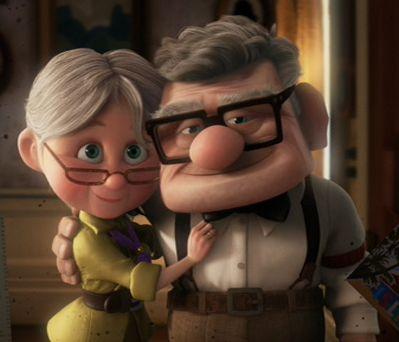 Carl & Ellie from Pixar's Up.