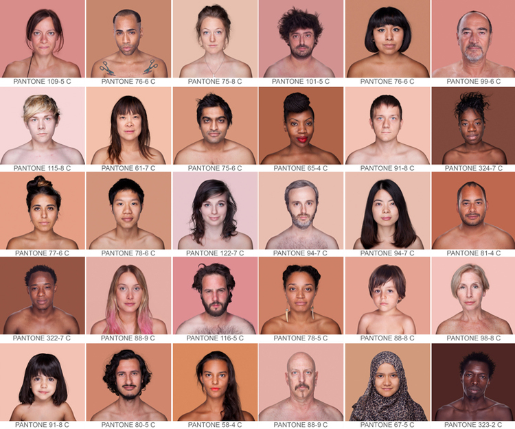 Humanae Project : Brazilian photographer Angelica Dass captured portraits of over 2,500 people across the world showcasing almost every shade of skin tone to prove we are much more diverse than black or white.