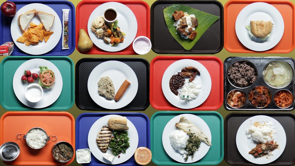 School lunches from around the world. Image by buzzfeed.