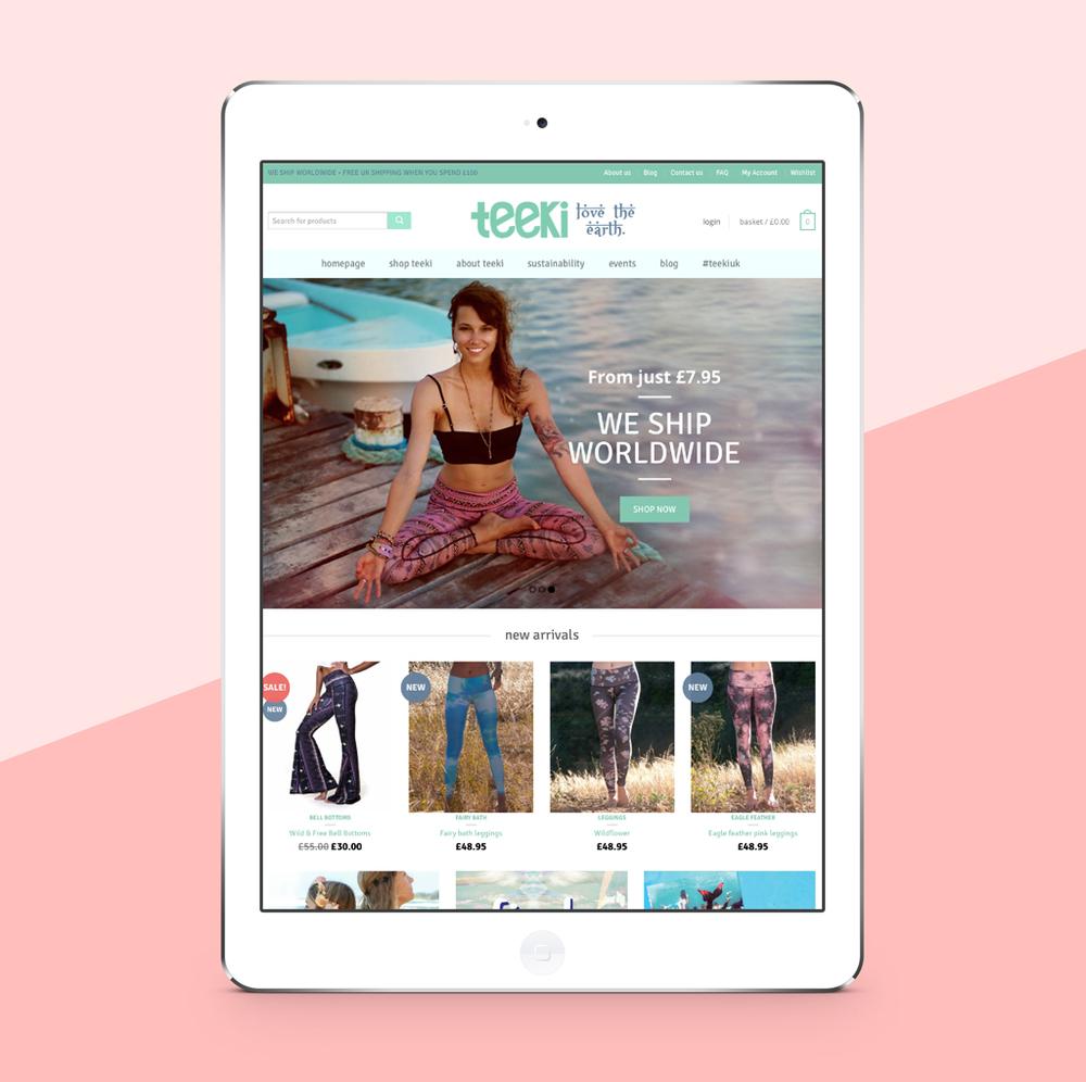 Teeki UK website designed by SunSide Studio