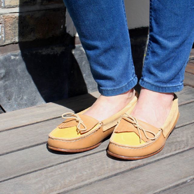 Tan & Yellow Moccasins - ON SALE! £69.50 (down from £139.00)