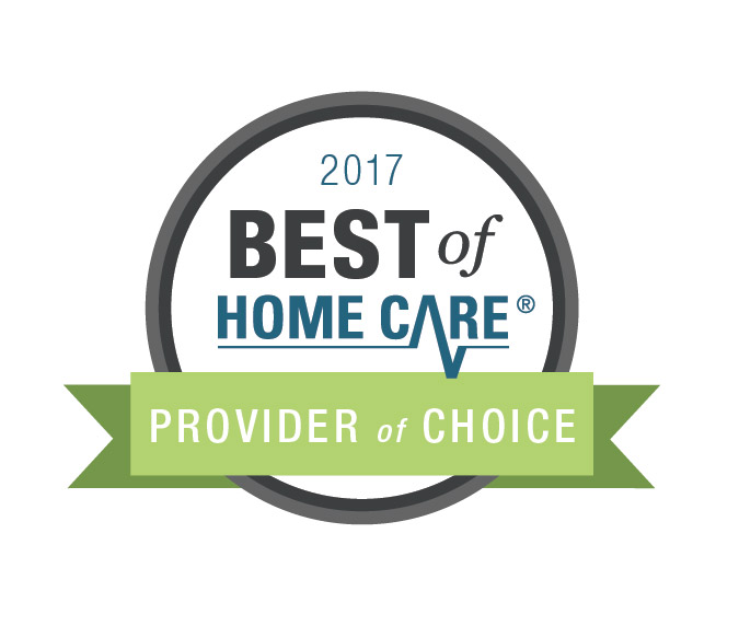 Badge for 2017 Best of Home Care Provider of Choice