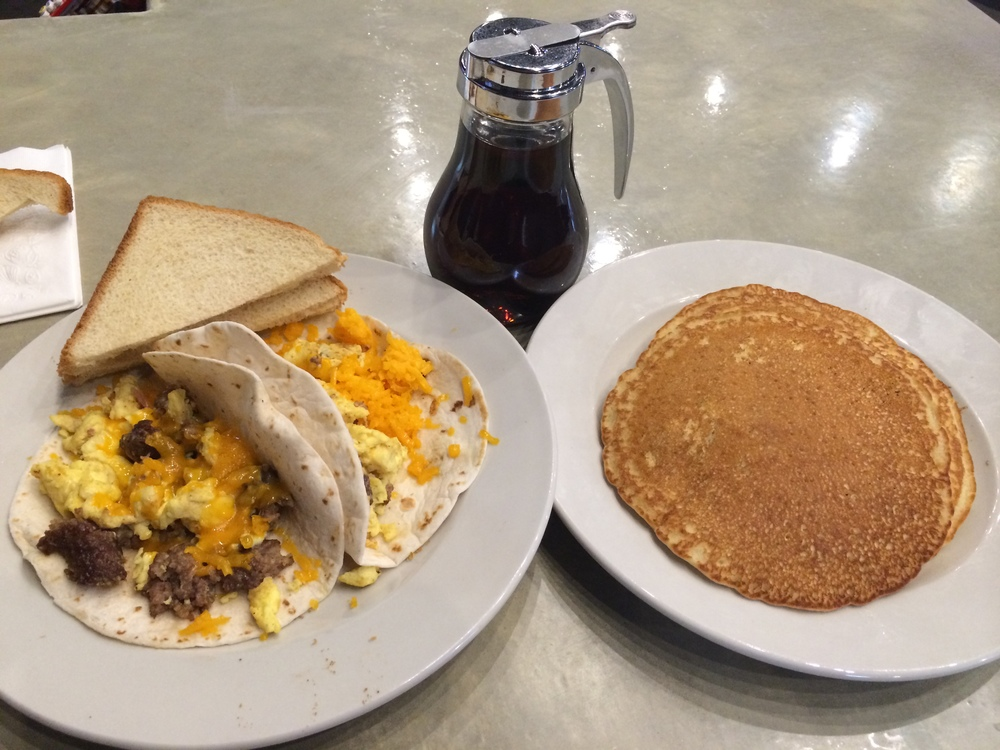 Sausage Breakfast Taco w/ Pancake