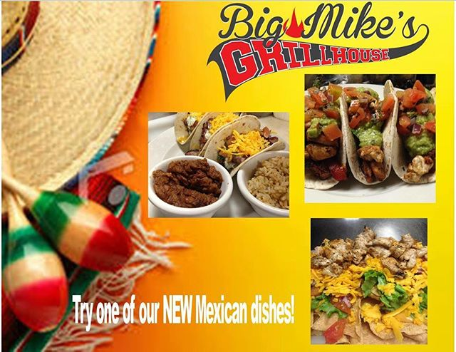 Come try one of our new Mexican dishes! We have some very delicious dishes from a perfectly marinated Carne Asada steak to beef fajitas and more! #mexicanfood #bigmikesgrillhouse #bullardtx #nomnomnom